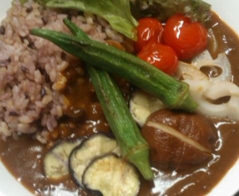 野菜のせカレー