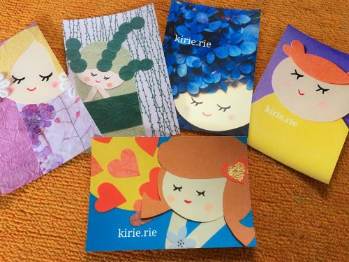 りえちゃんの切り絵ポストカード
