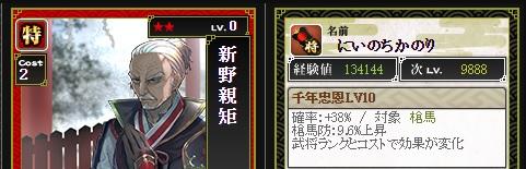 特 新野Lv10 ランク2