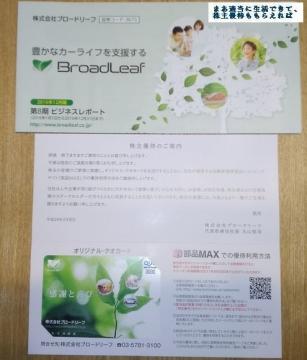 ブロードリーフ クオカード3000円相当 201612