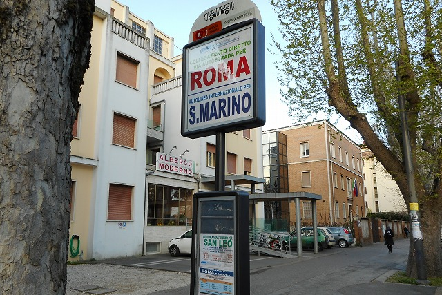 サンマリノ行きバス停