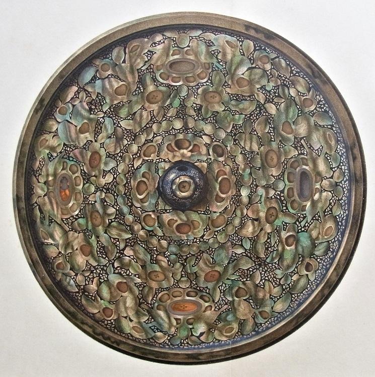 国華余芳「正倉院蔵・平螺鈿背円鏡」の精巧美麗な図版