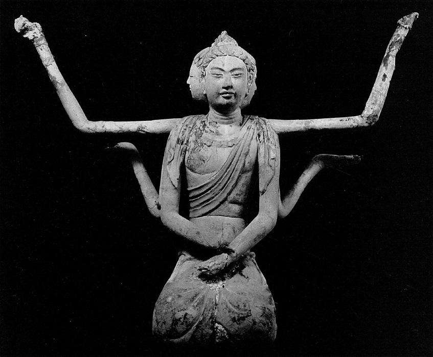 法隆寺五重塔・塔本塑像~阿修羅像
