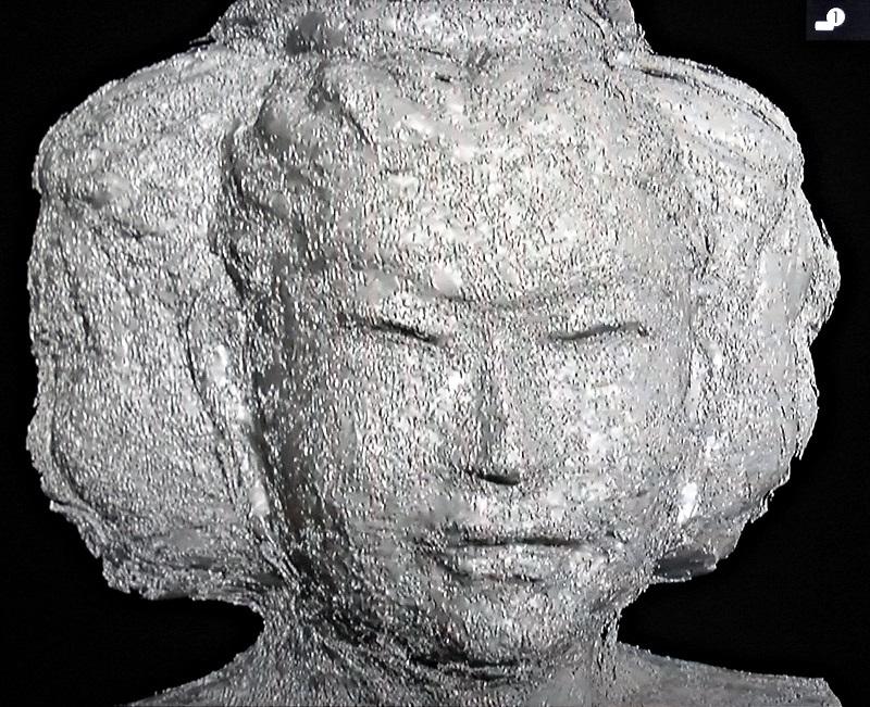 CTスキャンの画像から再現した阿修羅像の塑像原型~厳しく恐ろしげな表情