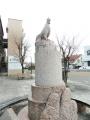 土佐くろしお鉄道後免町駅 土佐のオナガドリ像