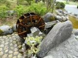 野岩鉄道川治湯元駅 池の小物 水車