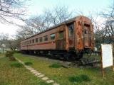 樽見鉄道谷汲口駅 オハフ502(旧オハフ33-1527)