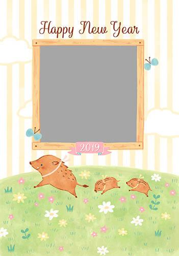 「パレットプラザ」 2019年店舗限定デザイン年賀状_1