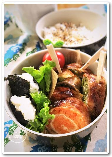 🍳野菜くるくる豚肉ロール弁当