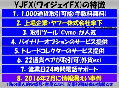 YJFX(ワイジェイ)の特徴と評判2017