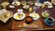 今朝の朝食は洋食。