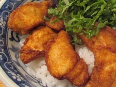 フグの唐揚丼4