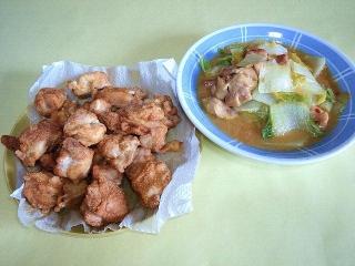 CAI_170314_4504 鶏唐揚げ・鶏肉と白菜の中華風みそ炒めVGA