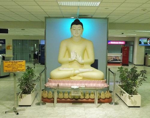 バンダラナイケ国際空港でお出迎え