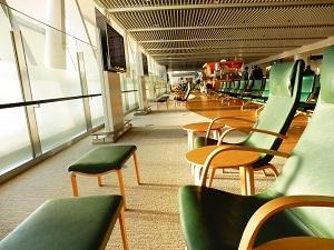 新千歳空港搭乗前待合席