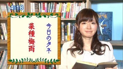 170321 朝ダネ 菜種梅雨 紺野あさ美 (5)