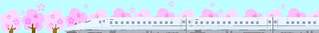 800系新幹線と桜