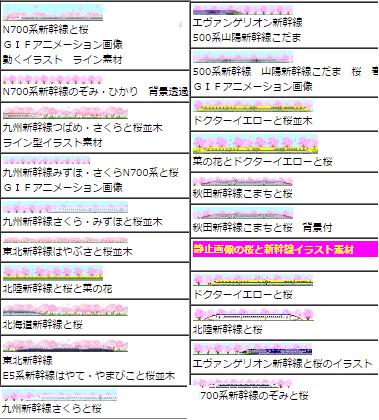 新幹線と桜のイラスト