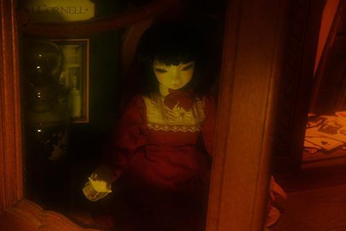 お譲り頂いた、DEAR MINE、DIANAヘッドカスタムの猫レディ、珠世さん。秘密めいたアンティークな部屋で、古い映画の中に出て来るような、その姿。