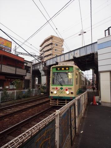 都電荒川線 7000形 電車【京成町屋駅付近】