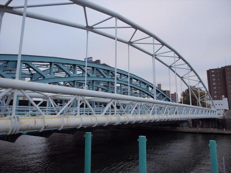 千住水管橋【隅田川】
