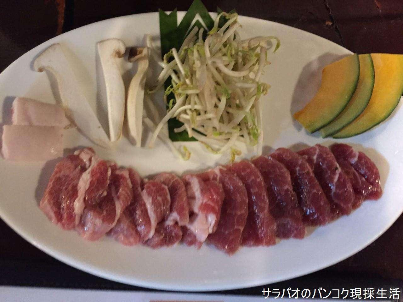 北海道しろくま屋でジンギスカン鍋を食す in アソーク