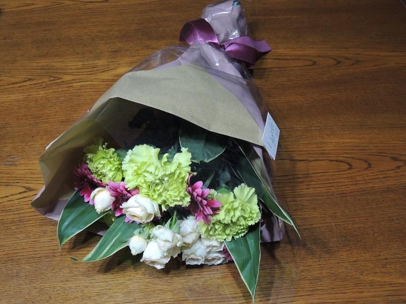 送別会でいただいた花束