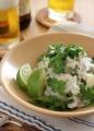 里芋とパクチーのサラダ1