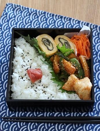 ちくわとピーマンのコチュマヨ炒め弁当2