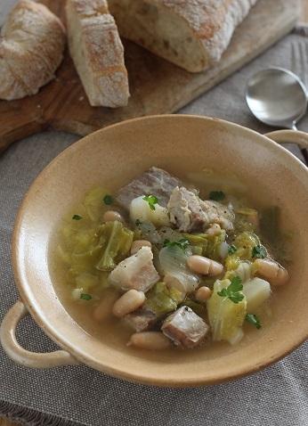 塩豚とキャベツといんげん豆のスープ煮