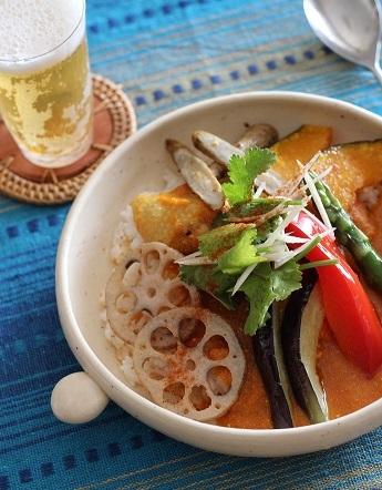 揚げ野菜カレー1