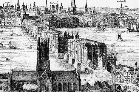 17世紀初頭のロンドン橋