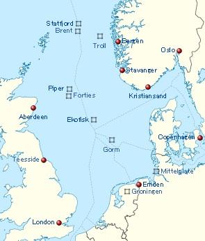 北海油田と国境