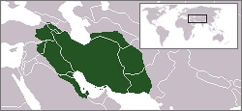紀元前50年頃のパルティアの位置
