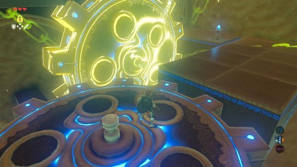 【ゼルダの伝説 ブレスオブザワイルド】 時を刻む歯車 『カム・ユオの祠』 進み方 ほこらチャレンジ「呪われし石像」