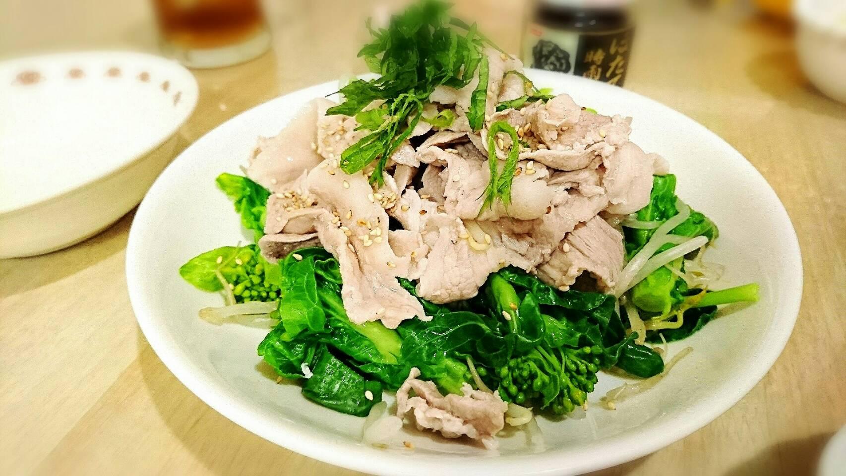 野菜たっぷり冷しゃぶ&豚汁