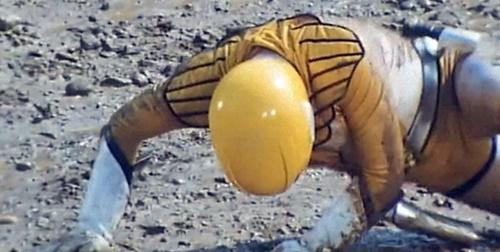 戦隊ヒーロー ジェットマン イエローオウル やられ ピンチ どろんこ