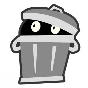 ゴミ箱おばけ