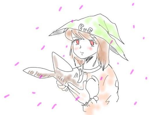 桜とイヴさん