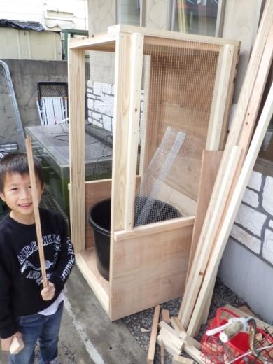 カブトムシ小屋作成 (29)