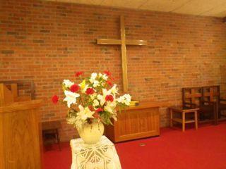 創立記念礼拝 お花
