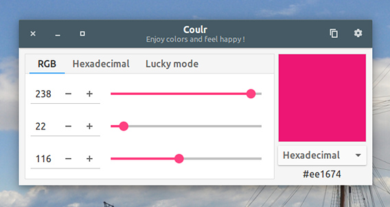 Coulr Ubuntu カラーコード変換