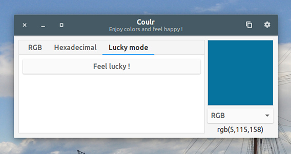 Coulr Ubuntu カラーコード変換 Lucky mode