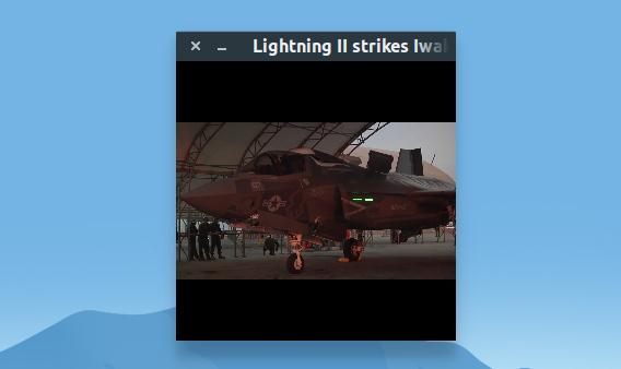 Parole Media Player 0.9.0 Ubuntu 動画プレイヤー ミニモード