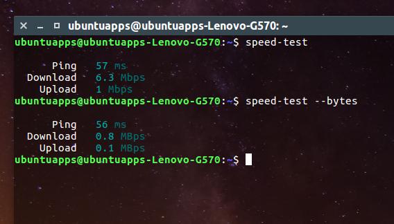 speed-test-snap Ubuntu インターネット 速度 測定