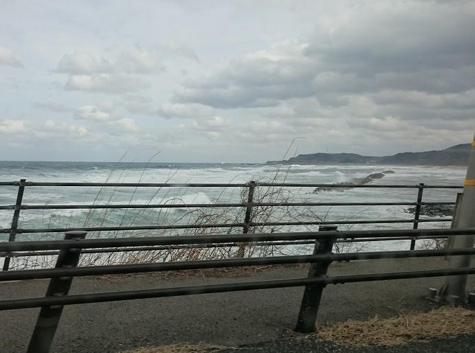 冬の海見ながら