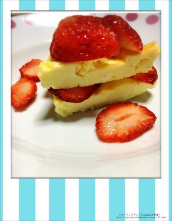 誕生日用手作りチーズケーキ2