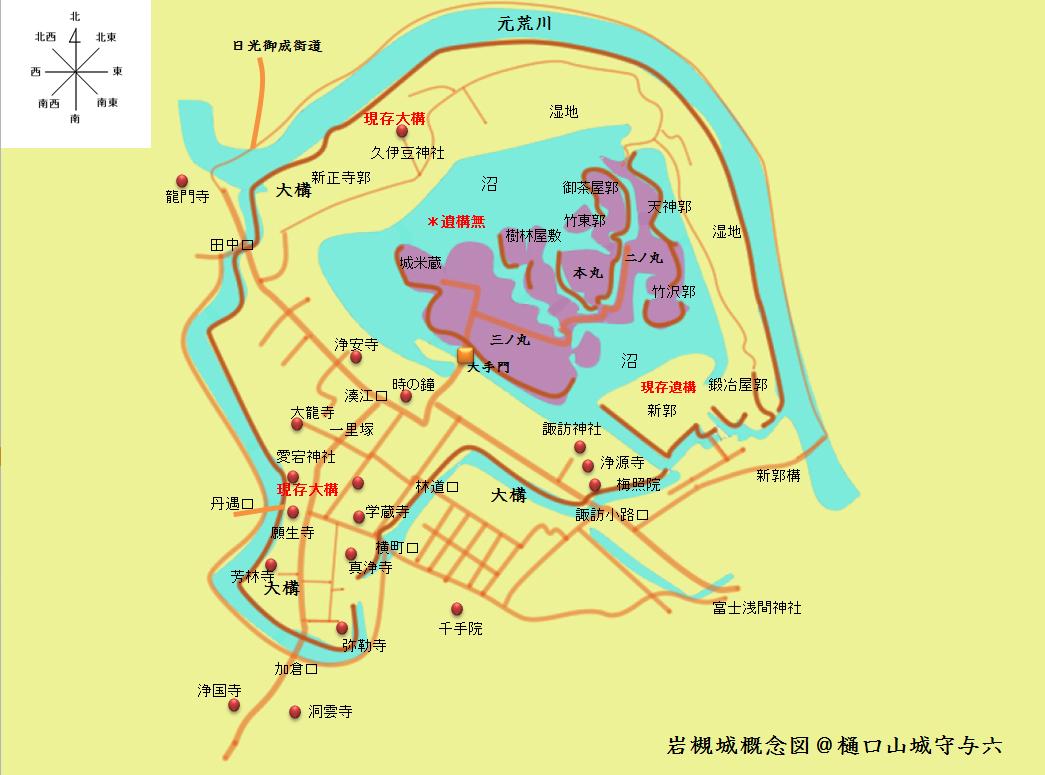 岩槻城概念図@ヤマシロ
