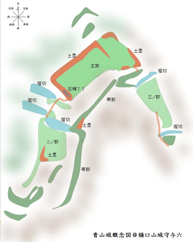 青山城概念図@ヤマシロ