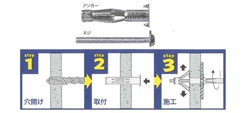 峰岸・エアコン用ボードアンカー①